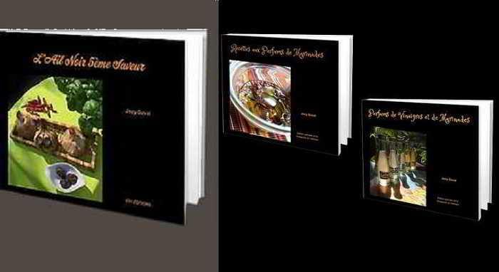 Nos livres de recettes ail noir, marinades et vinaigres