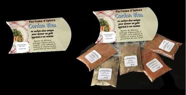 Parfums d'Épices -CORDON BLEU – SERIE 50 – Pour Marinades Sèches et Four à eau